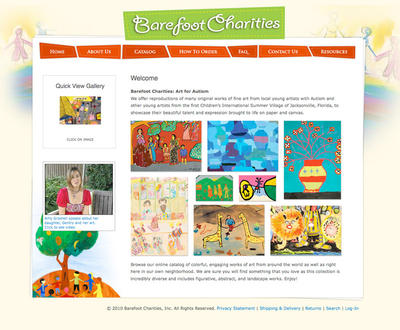 Barefoot Charities Website