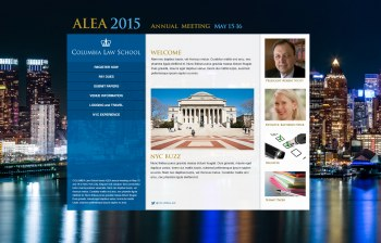 ALEA 2015 Columbia Law School website design