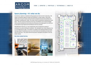 ARCOM CMS website from GO2 Media Design