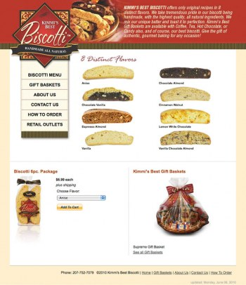 Kimmi's Best Biscotti Website